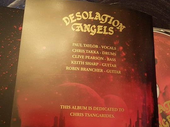 Desolation Angels - Tsangarides (RIP)